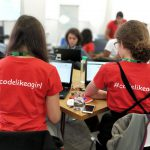 Helen Lamprell, Vodafone UK discusses helping young women learn to #codelikeagirl and prepare for ST...