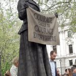 Courage calls to courage everywhere:  the male campaigners for universal suffrage noted on the Milli...